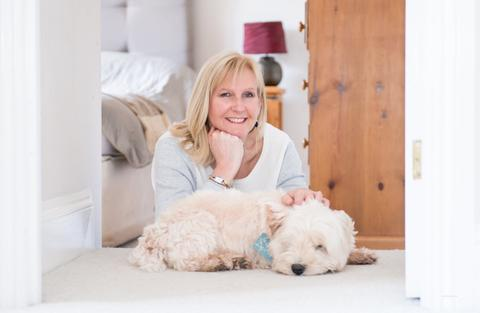 In Your Dog House gifts founder Elaine with Rupert